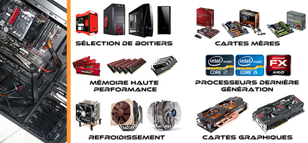 Omega hardware vente de mat riel informatique et - Ordinateur de bureau configuration sur mesure ...